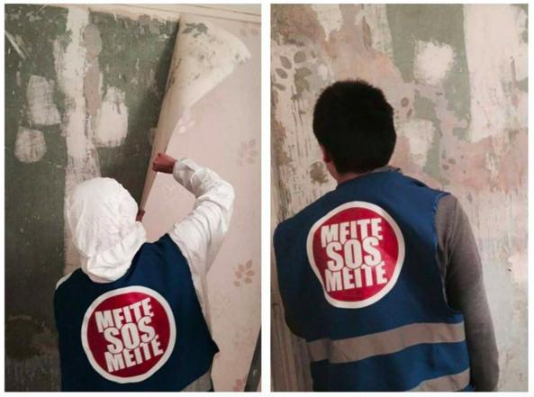 Travaux réalisés par des bénévoles de SOS Meite
