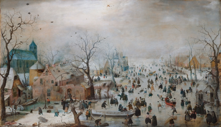 Source Wikimedia Commons : https://commons.wikimedia.org/wiki/File:Winter_landscape_with_skaters,_by_Hendrick_Avercamp.jpg